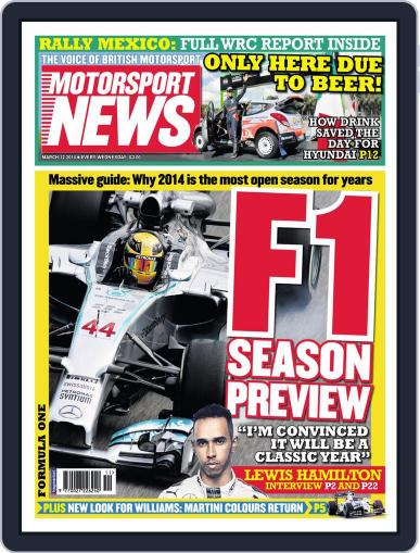Motorsport News (Digital) March 11th, 2014 Issue Cover