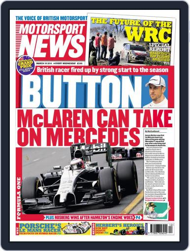 Motorsport News (Digital) March 18th, 2014 Issue Cover