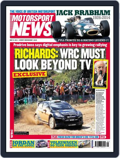 Motorsport News (Digital) May 20th, 2014 Issue Cover