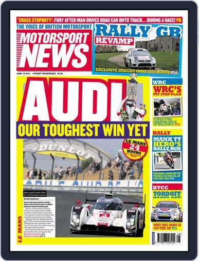 Motorsport News June 17th, 2014 Digital Back Issue Cover