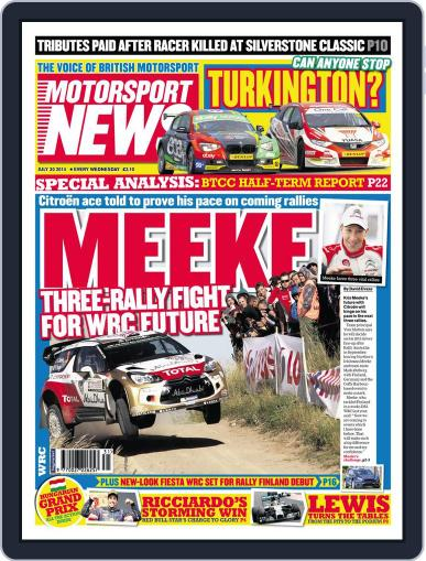 Motorsport News (Digital) July 29th, 2014 Issue Cover
