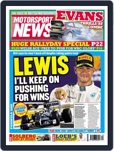 Motorsport News September 23rd, 2014 Digital Back Issue Cover