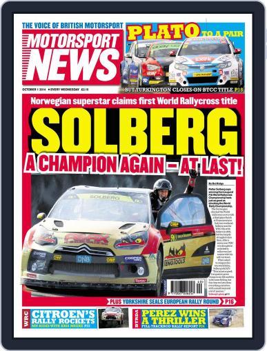 Motorsport News (Digital) September 30th, 2014 Issue Cover
