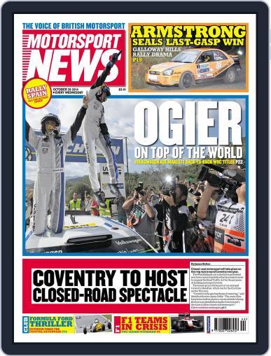 Motorsport News (Digital) October 28th, 2014 Issue Cover