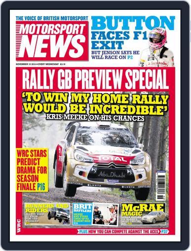 Motorsport News (Digital) November 11th, 2014 Issue Cover
