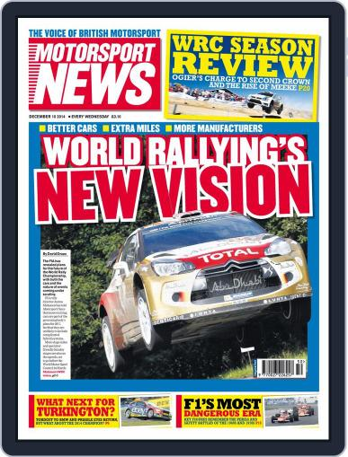 Motorsport News (Digital) December 9th, 2014 Issue Cover