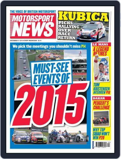 Motorsport News (Digital) December 30th, 2014 Issue Cover