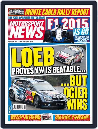 Motorsport News (Digital) January 28th, 2015 Issue Cover