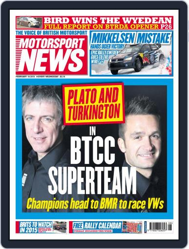 Motorsport News (Digital) February 17th, 2015 Issue Cover