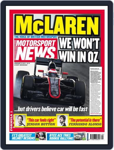 Motorsport News (Digital) February 25th, 2015 Issue Cover