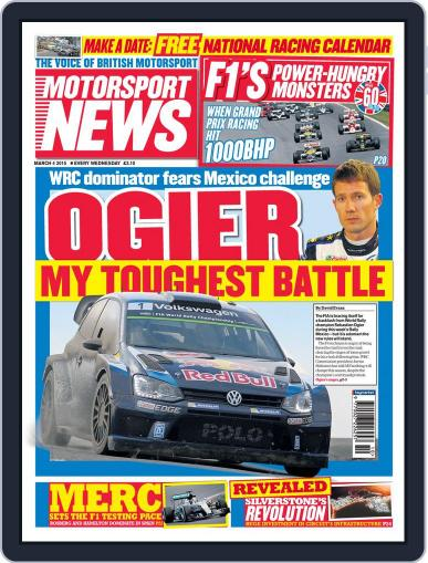 Motorsport News (Digital) March 4th, 2015 Issue Cover