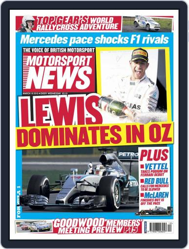 Motorsport News (Digital) March 17th, 2015 Issue Cover