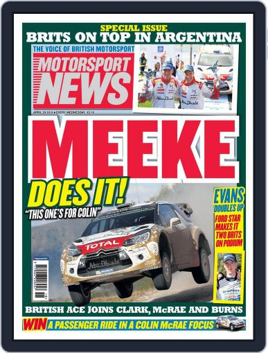 Motorsport News (Digital) April 29th, 2015 Issue Cover