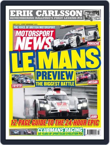 Motorsport News June 3rd, 2015 Digital Back Issue Cover