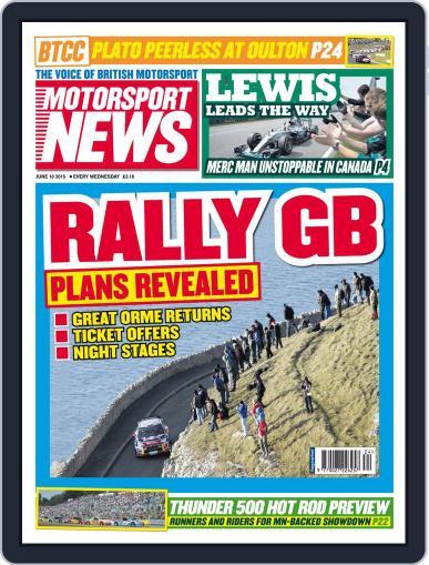 Motorsport News (Digital) June 10th, 2015 Issue Cover