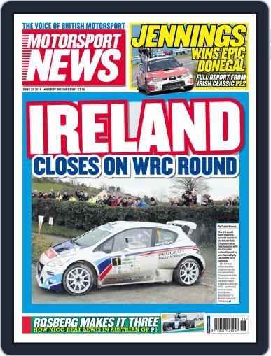Motorsport News (Digital) June 24th, 2015 Issue Cover