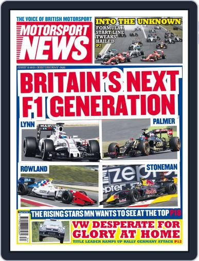 Motorsport News (Digital) August 19th, 2015 Issue Cover