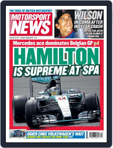 Motorsport News August 26th, 2015 Digital Back Issue Cover