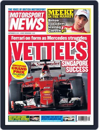 Motorsport News (Digital) September 22nd, 2015 Issue Cover