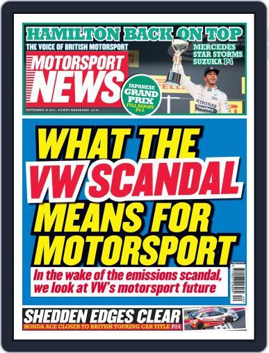 Motorsport News (Digital) September 30th, 2015 Issue Cover