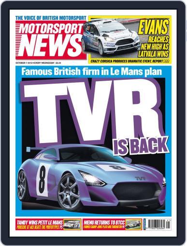Motorsport News (Digital) October 7th, 2015 Issue Cover