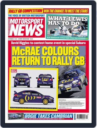 Motorsport News (Digital) October 21st, 2015 Issue Cover