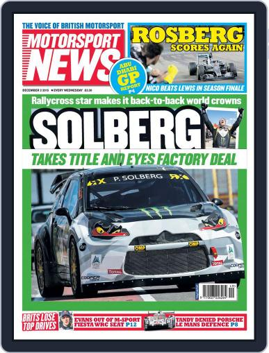 Motorsport News (Digital) December 2nd, 2015 Issue Cover