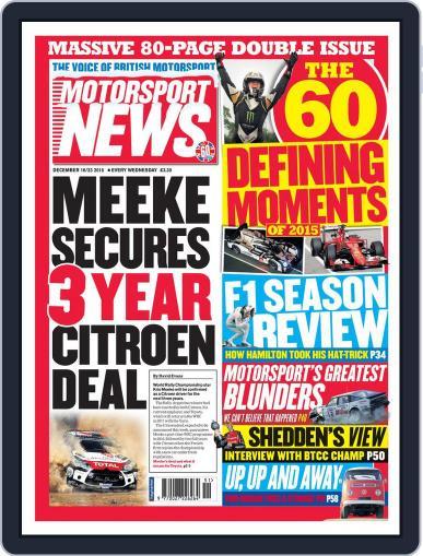 Motorsport News (Digital) December 16th, 2015 Issue Cover