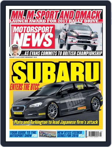 Motorsport News (Digital) January 13th, 2016 Issue Cover