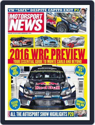 Motorsport News (Digital) January 20th, 2016 Issue Cover