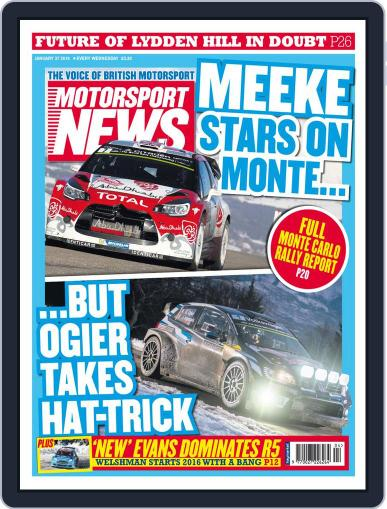 Motorsport News January 27th, 2016 Digital Back Issue Cover
