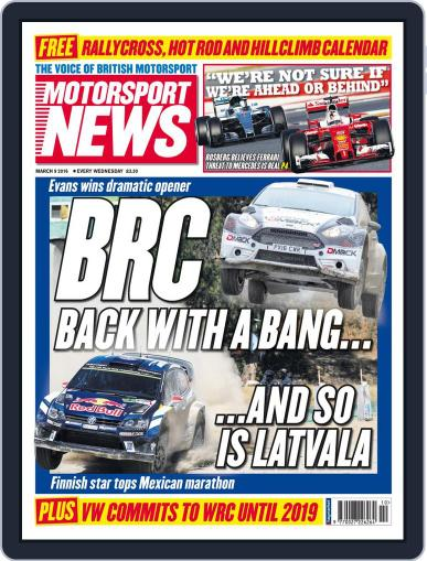 Motorsport News (Digital) March 9th, 2016 Issue Cover