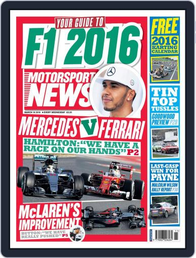 Motorsport News (Digital) March 16th, 2016 Issue Cover