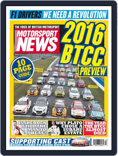 Motorsport News (Digital) March 30th, 2016 Issue Cover
