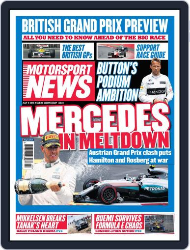 Motorsport News July 7th, 2016 Digital Back Issue Cover