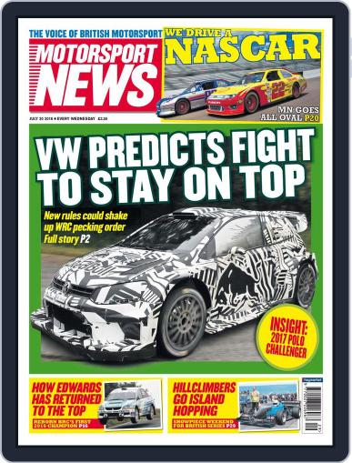 Motorsport News (Digital) July 19th, 2016 Issue Cover
