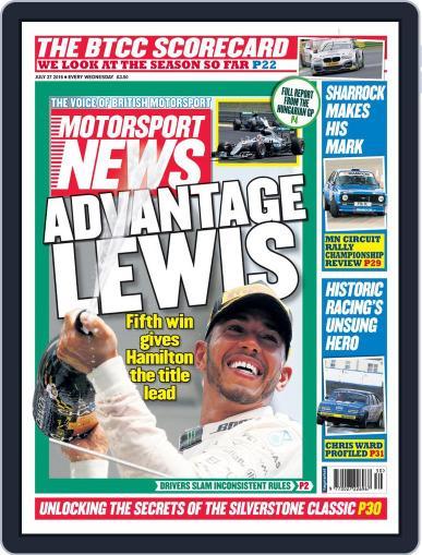 Motorsport News July 27th, 2016 Digital Back Issue Cover