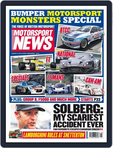 Motorsport News (Digital) August 10th, 2016 Issue Cover