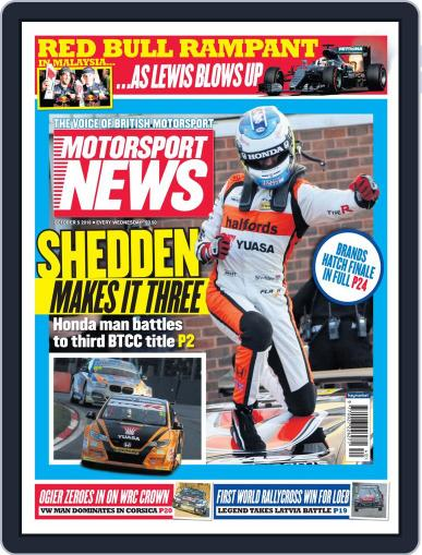 Motorsport News October 5th, 2016 Digital Back Issue Cover