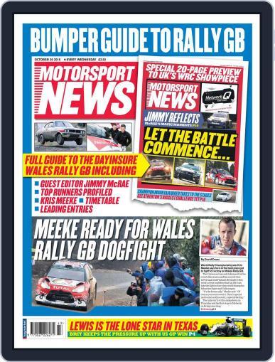Motorsport News (Digital) October 26th, 2016 Issue Cover