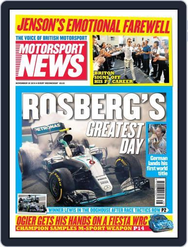 Motorsport News (Digital) November 30th, 2016 Issue Cover