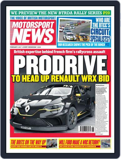 Motorsport News (Digital) February 8th, 2017 Issue Cover
