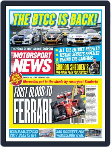 Motorsport News March 29th, 2017 Digital Back Issue Cover