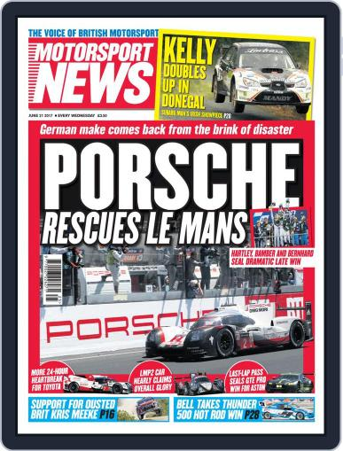 Motorsport News June 21st, 2017 Digital Back Issue Cover