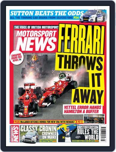 Motorsport News (Digital) September 20th, 2017 Issue Cover