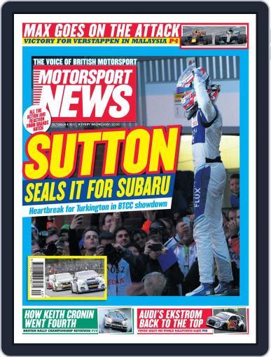 Motorsport News October 4th, 2017 Digital Back Issue Cover