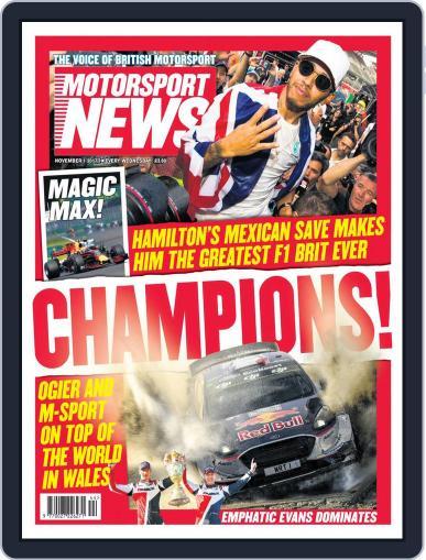 Motorsport News (Digital) November 1st, 2017 Issue Cover