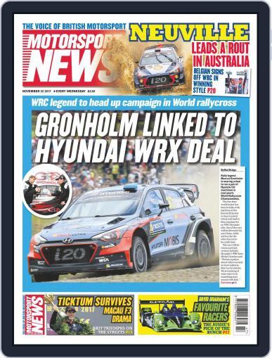Motorsport News November 22nd, 2017 Digital Back Issue Cover