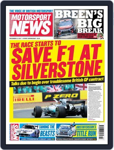 Motorsport News December 13th, 2017 Digital Back Issue Cover
