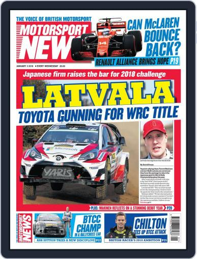 Motorsport News (Digital) January 3rd, 2018 Issue Cover